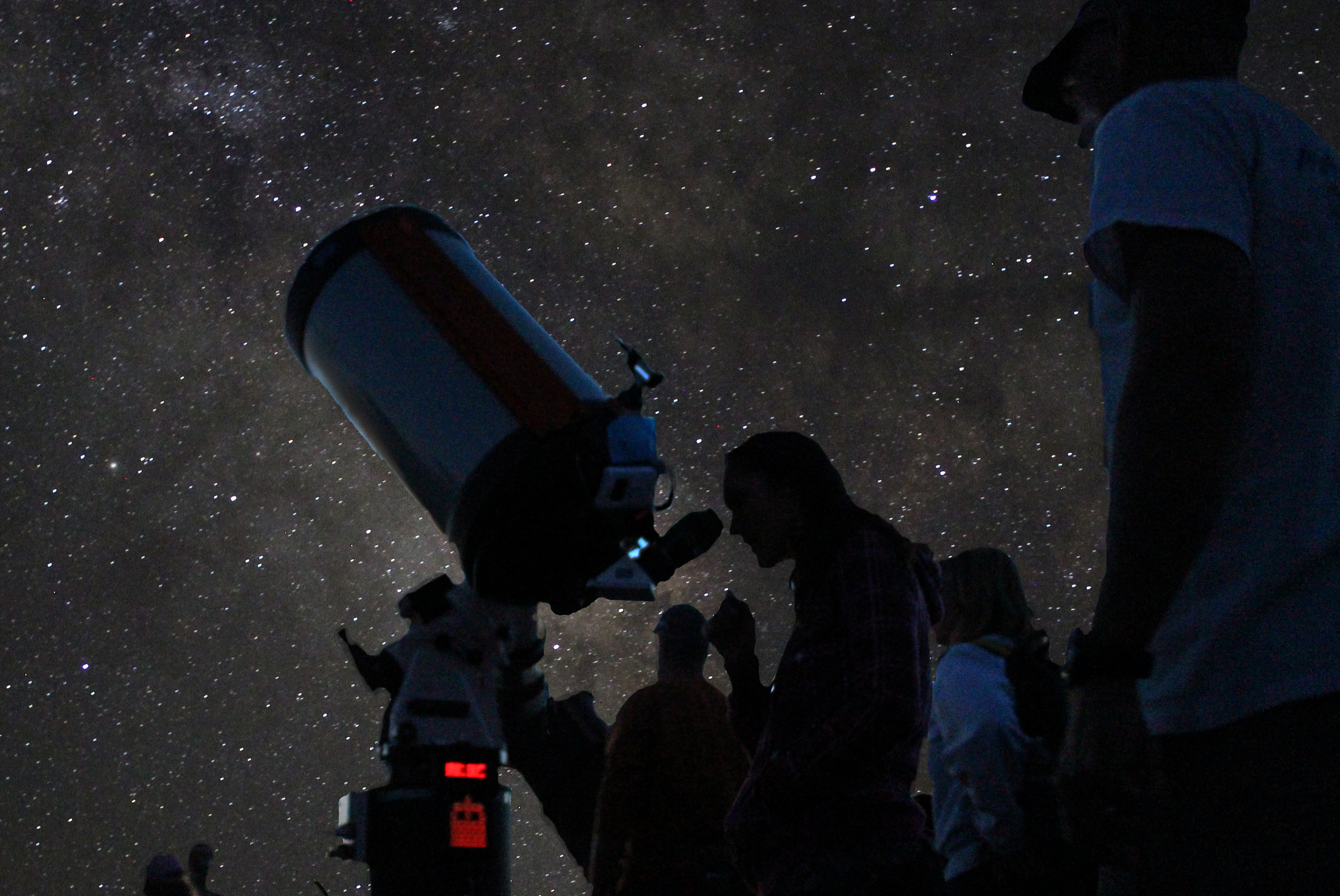 For eight days every June, park visitors and residents explore the wonders of the night sky on Grand Canyon National Park's South Rim with the Tucson Amateur Astronomy Association and on the North Rim with the Saguaro Astronomy Club of Phoenix. http://www.nps.gov/grca/planyourvisit/grand-canyon-star-party.htm Amateur astronomers from across the country volunteer their expertise and offer free nightly astronomy programs and free telescope viewing. NPS/M.Quinn