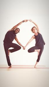 Francise and Pascale : yoga teachers